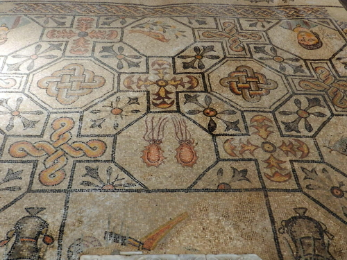 Squid and patterns: Basilica of Aquliea, Italy,