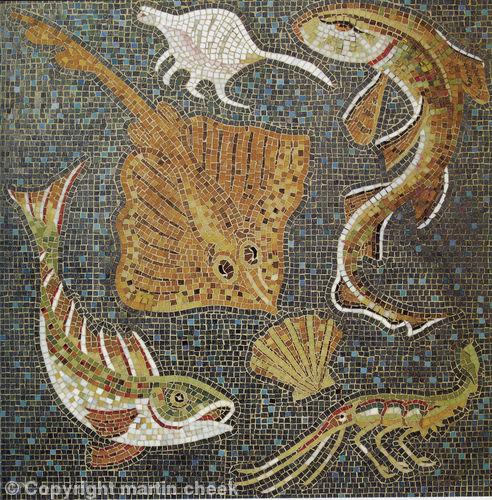 Making a mosaic trivet part ii mosaic designs and materials - Cuisine romaine antique ...