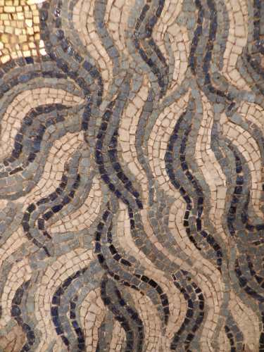 Hair of St.John, 14th century mosaic. St. Mark's Basilica, Venice.