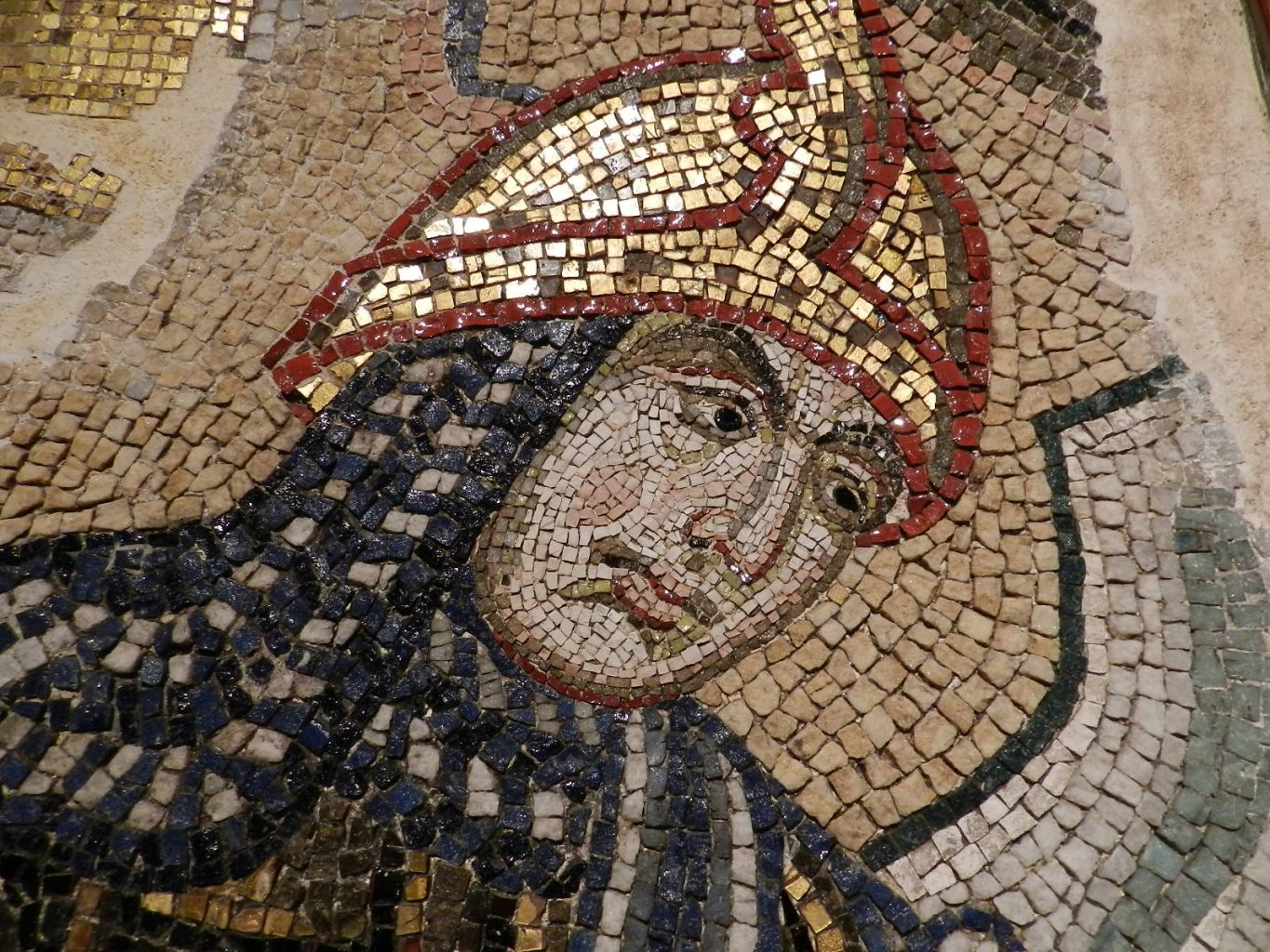 Mosaic faces of St. Mark's Basilica, Venice.