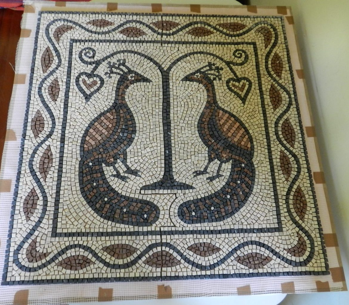 Making a floor mosaic – from start to finish.