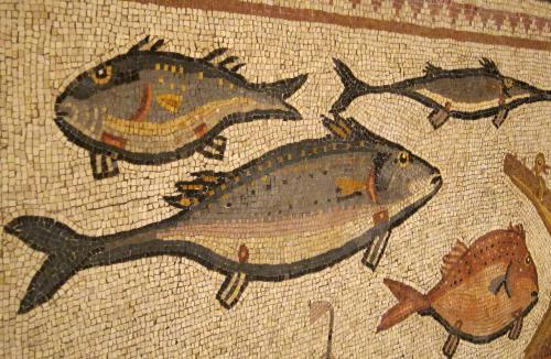 Lod mosaic, fish