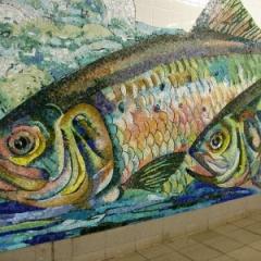 Mosaic fish, Delancey Street