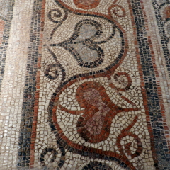 Heart border. 6th century basilica. Byzantine Museum of Thessaloniki.