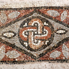 Mosaic floor, 5th century, Byzantine Museum of Thessaloniki.