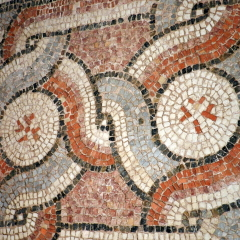 Border pattern, 6th century basilica. Byzantine Museum of Thessaloniki.