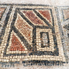 Mosaic floor, 4th century, Byzantine Museum of Thessaloniki.