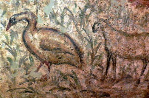 Goose and lamb, Early Christian tomb, Byzantine Museum, Thessaloniki.