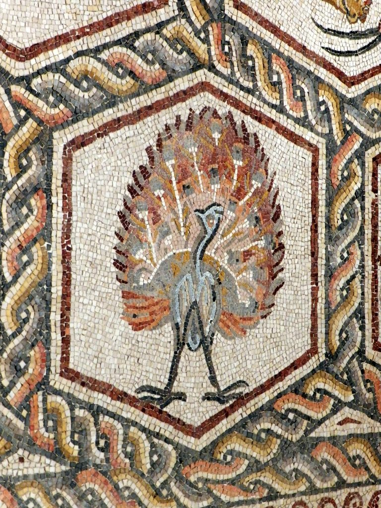 Mosaic, in art, decoration of a surface with designs made up of closely set, usually variously coloured, small pieces of material such as stone, mineral, glass, tile, or shell.
