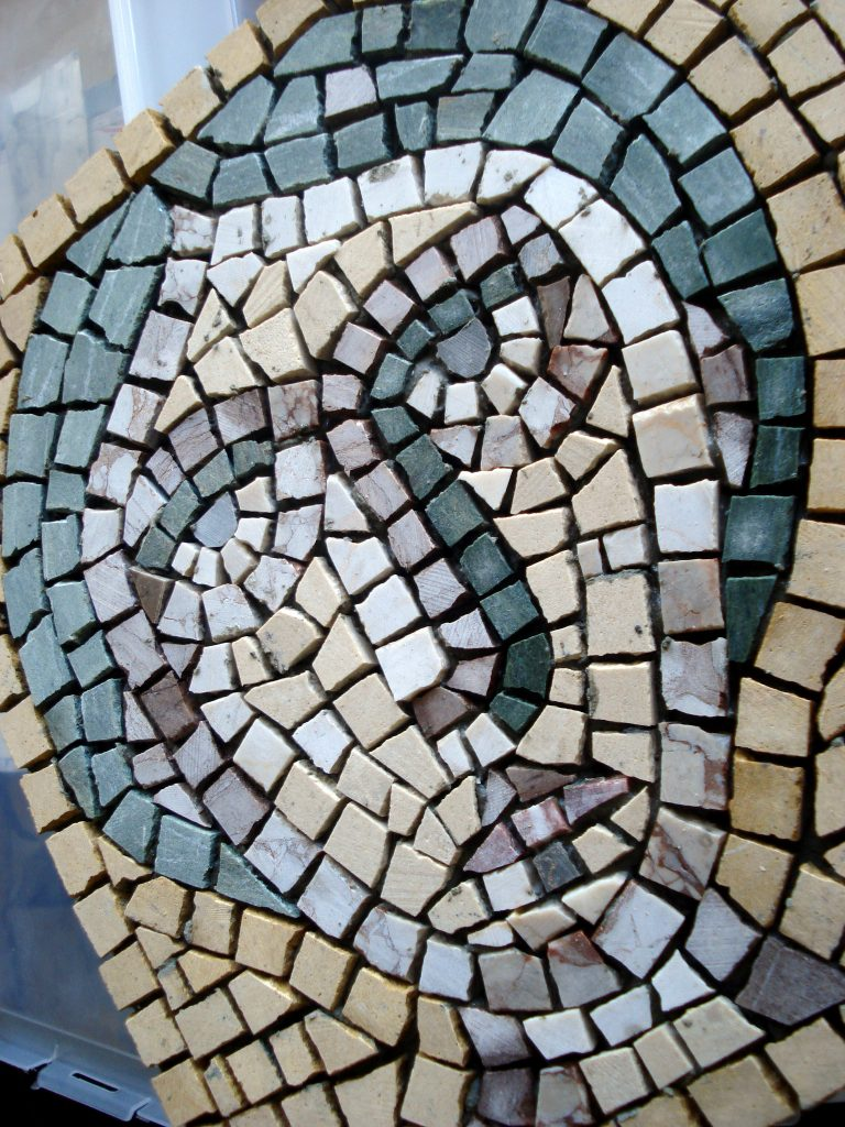 Looking forward, looking back: a year of mosaic work.