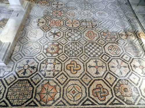 Floor patterns at Basilica of Aquileia, Italy