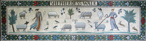 Sheperdess Walk mosaic