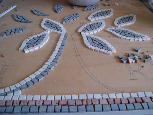 The mosaic making process: taking shape