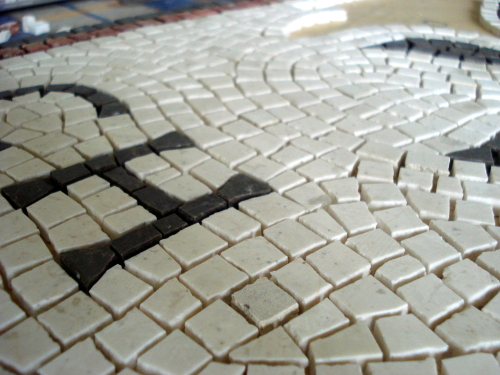 The mosaic making process: up close