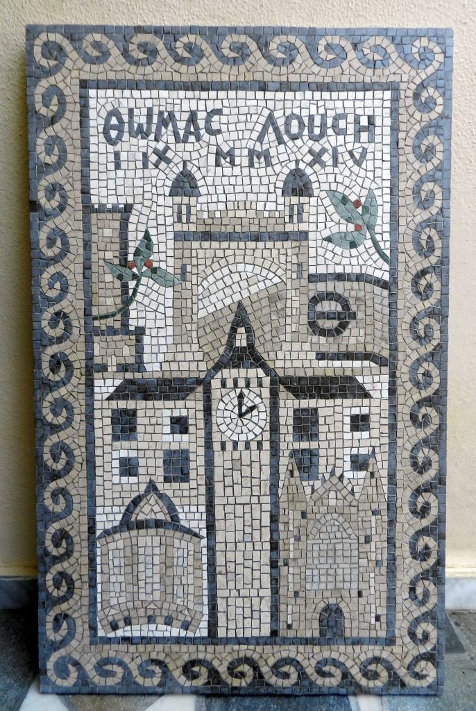 Set in stone: a bespoke mosaic for a family wedding.