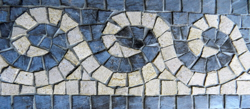 Waves - symbol of infinity and unity. Photo: Helen Miles Mosaics