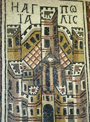 Holy City Mosaic, Umm al Rasas, Jordan.