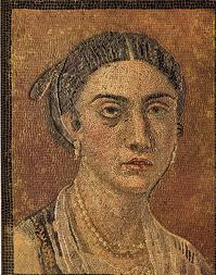 Pompeii mosaic portrait
