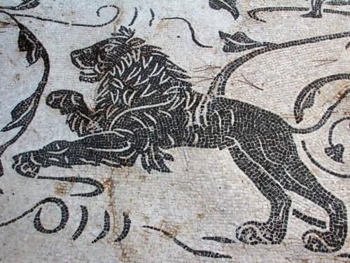 Lion. Ostia Antica. Terme dei Sette Sapienti.