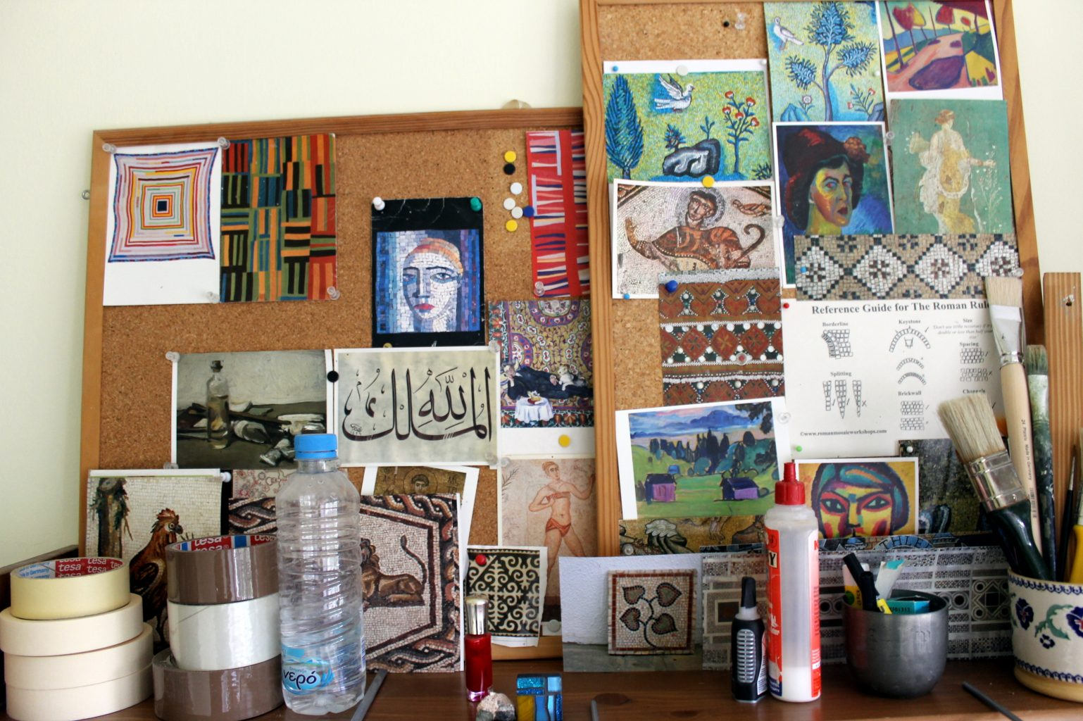 Inside mosaic studios