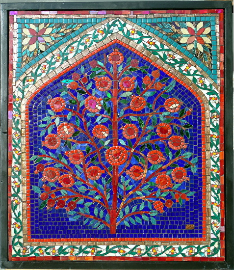 A gallery of pomegranate mosaics
