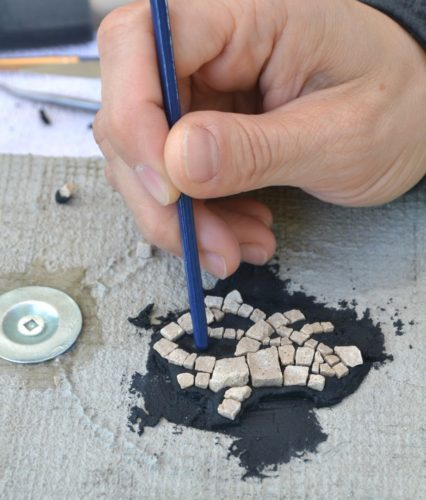 using thinset for mosaics