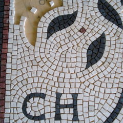 Wedding mosaic for CH & RZ_work in progress.