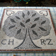Wedding mosaic for CH & RZ_grouting in two stages