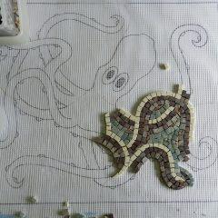 Washington panel mosaic_work in progress_the octopus