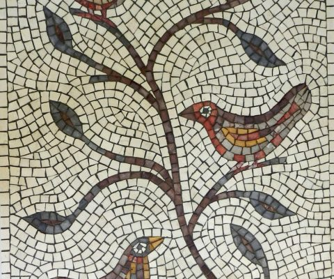 Birds and branches mosaic