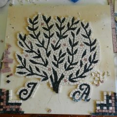 Wedding mosaic tree_ work in progress