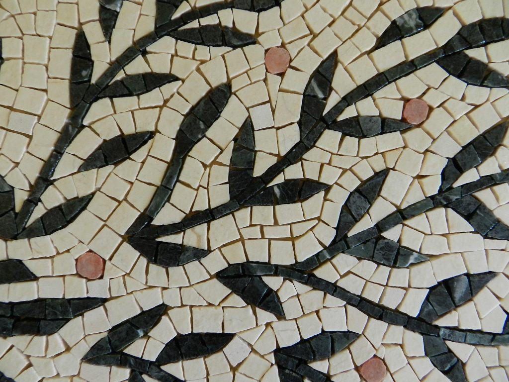 Wedding mosaic tree_ detail ungrouted