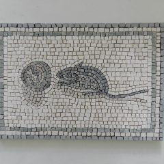 mouse and walnut mosaic_before sealing