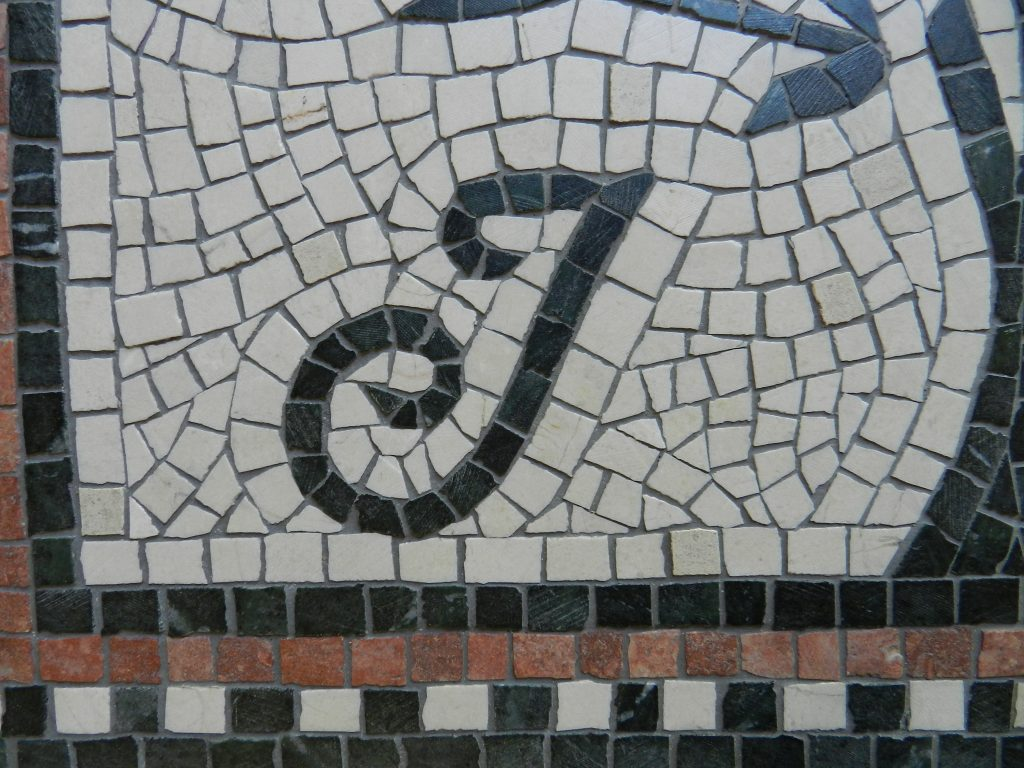 letter j wedding mosaic intitial