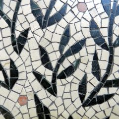 Wedding mosaic tree_detail after grouting