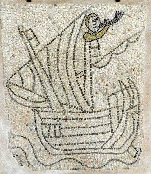 Bugler? Mosaics of San Giovanni Evangelista, Ravenna.