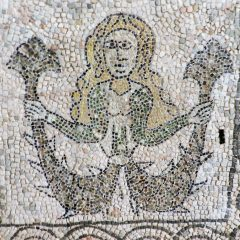 Mermaid. Mosaics of San Giovanni Evangelista, Ravenna.