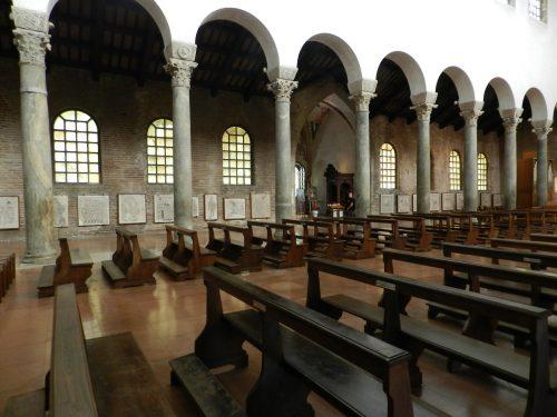 Mosaics in situ. San Giovanni Evangelista, Ravenna.