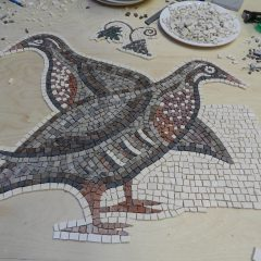 mosaic partridges_work in progress.