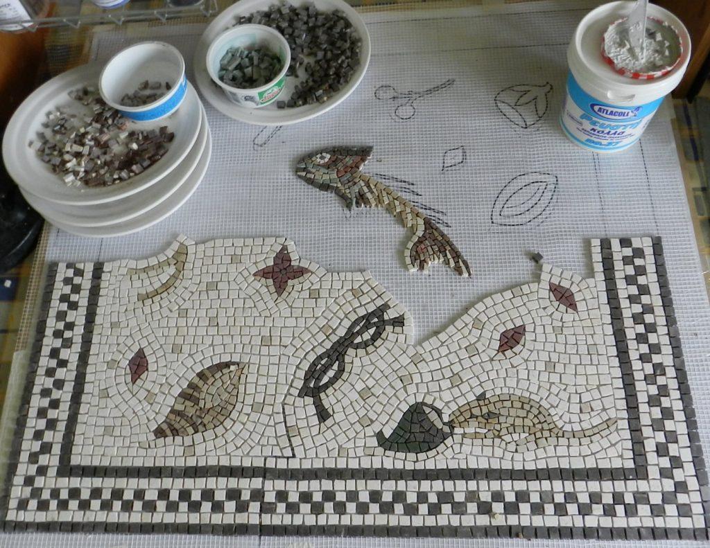 half way through the unswept floor mosaic