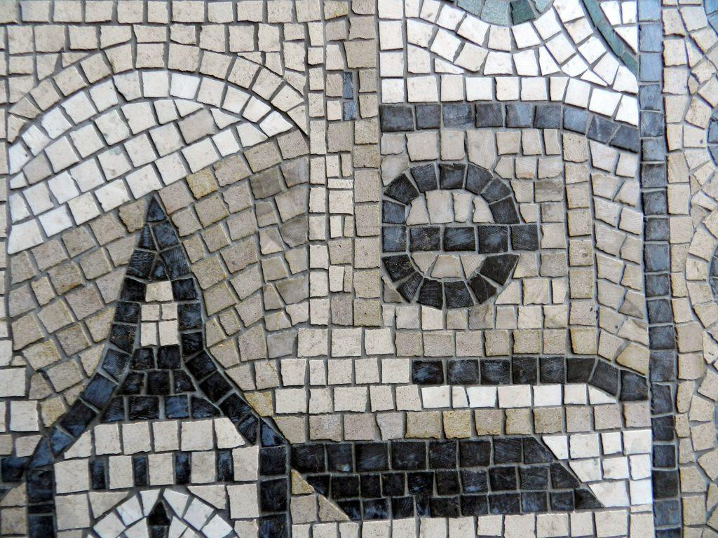 london wedding mosaic_tube station detail