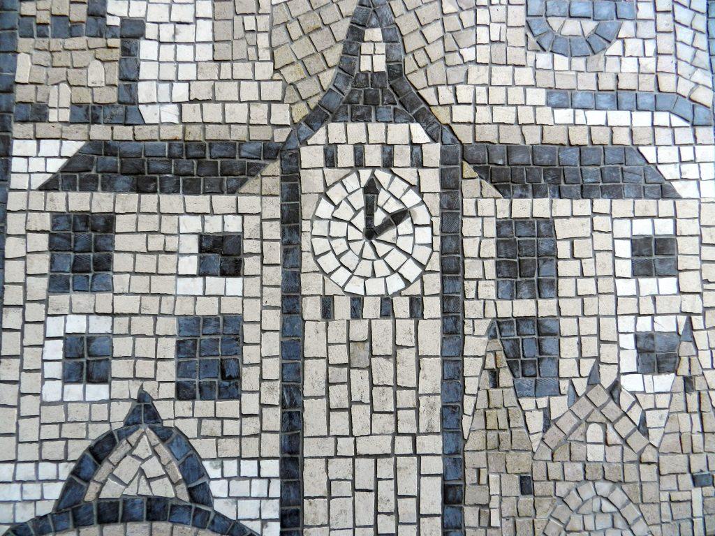 London wedding mosaic_big ben detail