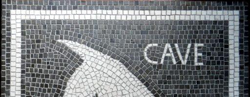 Scary dog mosaic