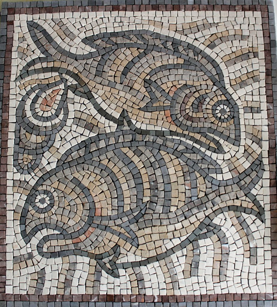 Qasr Libya fish mosaic copy