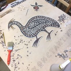 guinea fowl mosaic _ work in progress