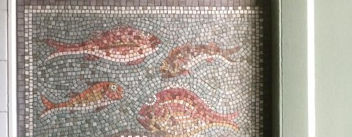Octopus and fish mosaic