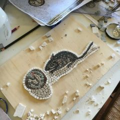 mouse and walnut mosaic_work in progress