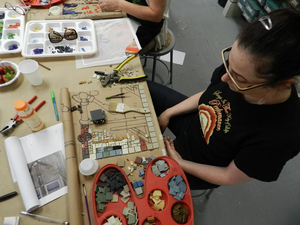 Chicago Mosaic School - Linda Pulik's work in progress