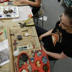 Chicago Mosaic School - Linda Pulik's work in progress
