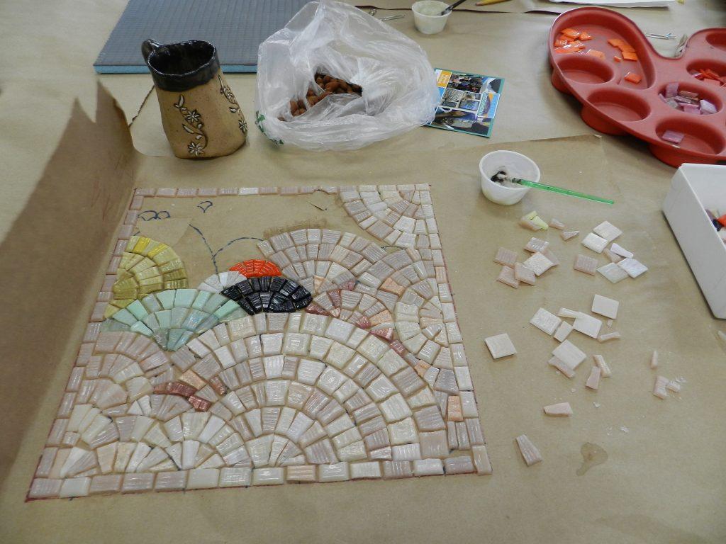 Chicago Mosaic School - Kate Jessup's work in progress